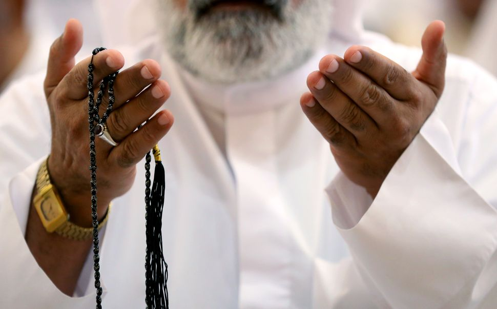 A Kuwaiti Shia Muslim during Eid al-Adha prayer at Al Sadeq mosque in Kuwait City, Kuwait, Sept. 12, 2016.