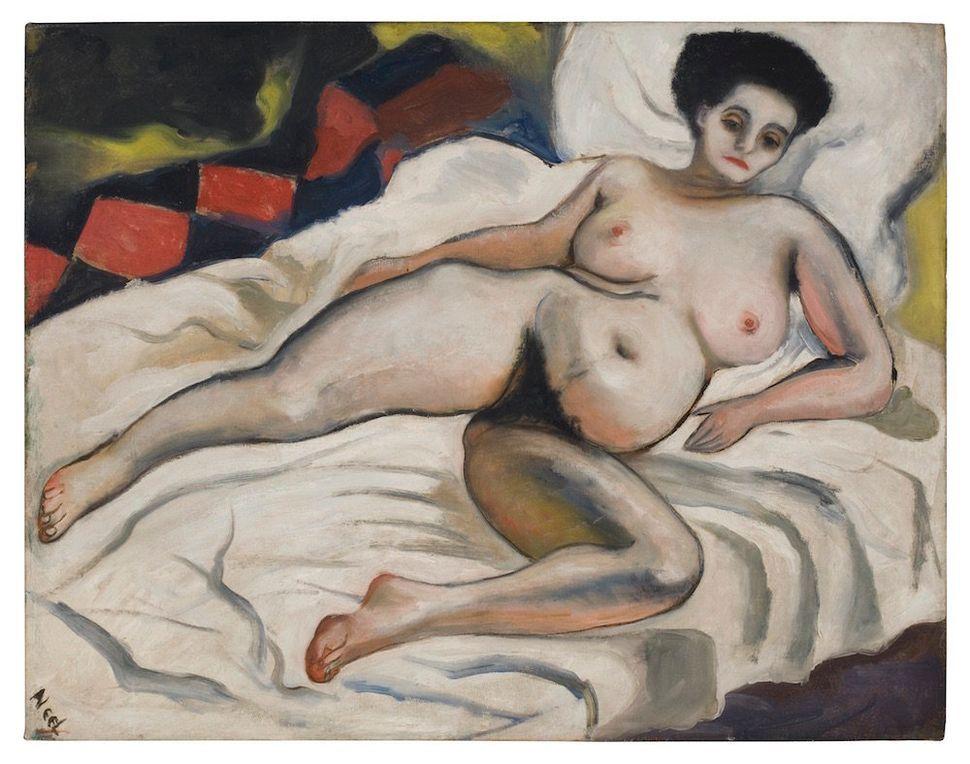 """Alice Neel, """"Nadya Nude,"""" 1933, oil on canvas"""