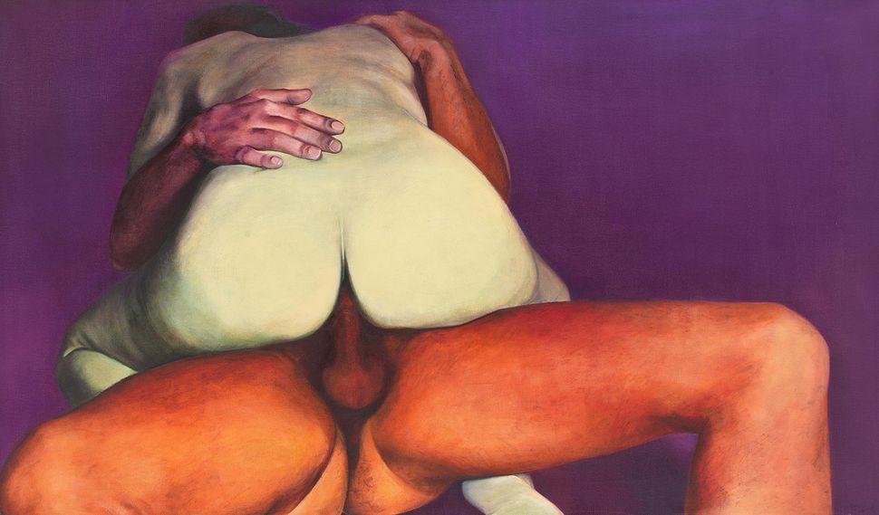 "Joan Semmel, ""Purple Passion,"" 1973, Oil on canvas"