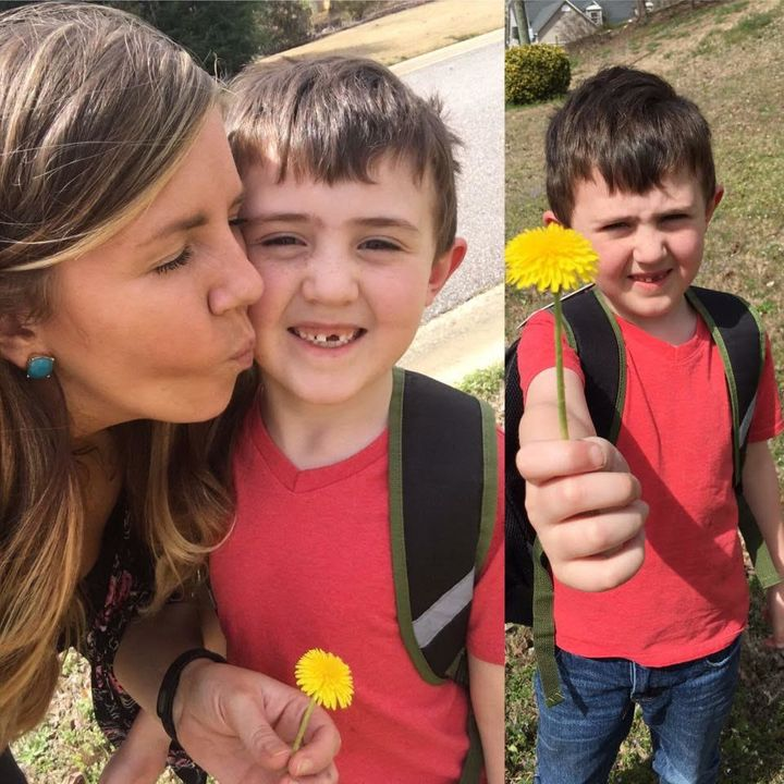 """Shelby E.said she felt """"blessed"""" after discovering her son's act of kindness."""