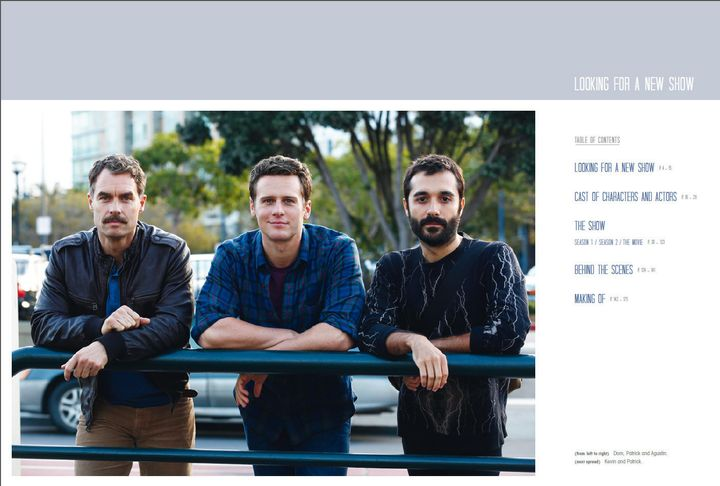 """Looking"" stars Murray Bartlett, Jonathan Groff and Frankie J. Alvarez in a behind-the-scenes shot from the book."