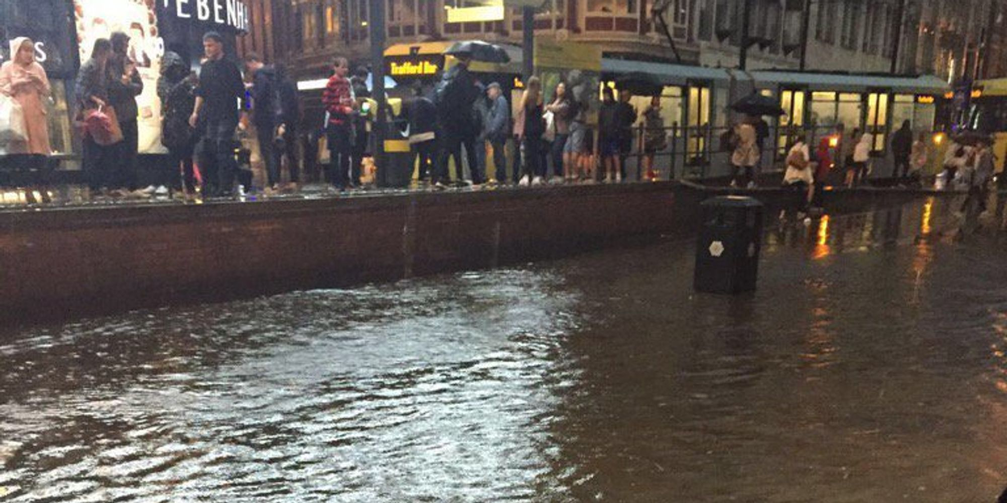 Manchester Floods Sees Airport Affected And City Vs