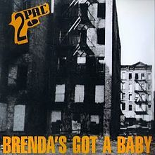 """Cover Art for the """"Brenda's Got A Baby"""""""