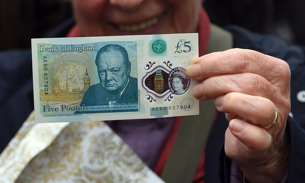 The new polymer 5 pound Sterling