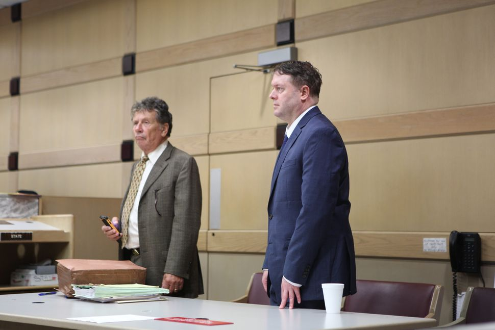 Thomas Maffei, on right, is facing two counts of attempted murder, aggravated assault with a deadly weapon and other cri
