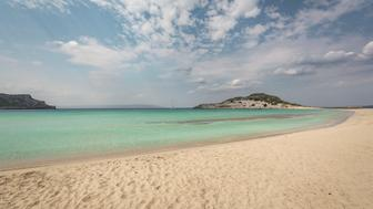 The famous Simos beach at Elafonisos island in Greece.