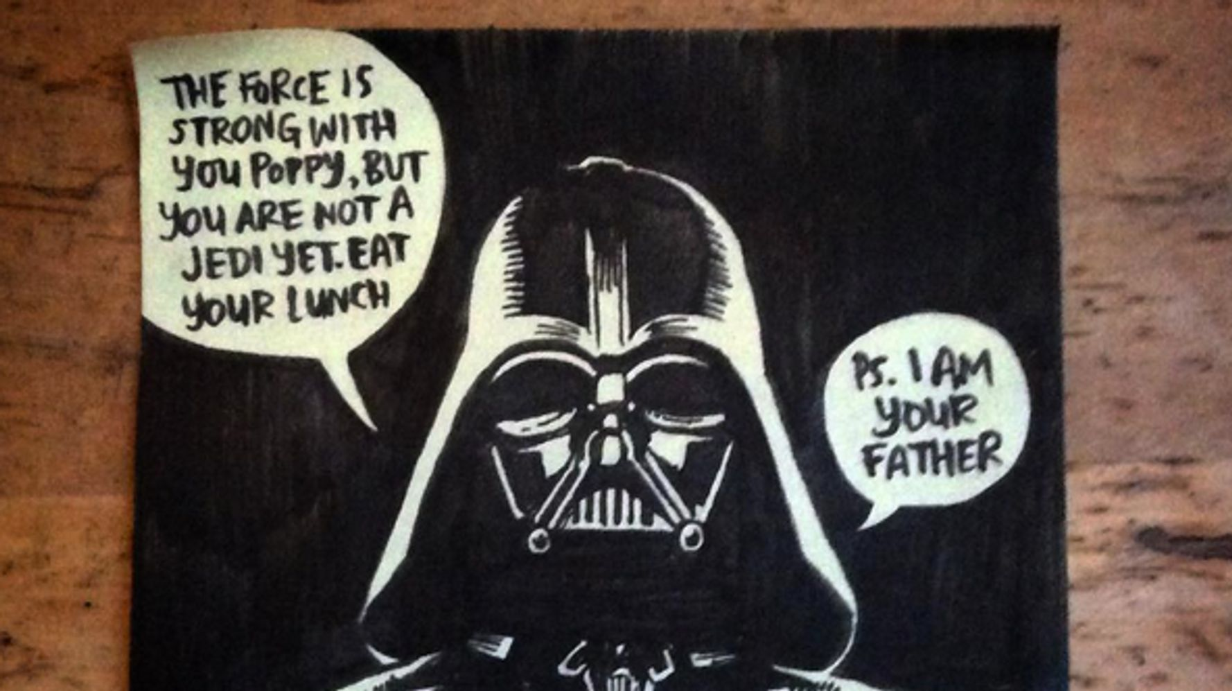 Dad Draws Awesome Post-It Note Illustrations For Daughter's Lunchbox