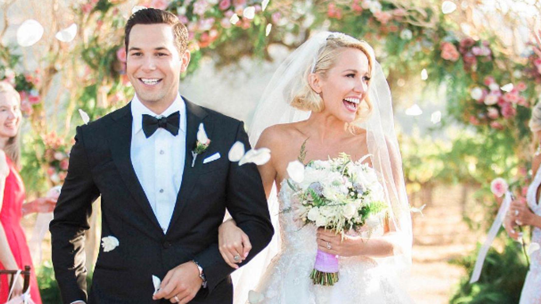 Anna Camp And Skylar Astin's Wedding Photos Hit All The Right ...