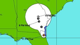 Tropical Storm Julia forms over Florida