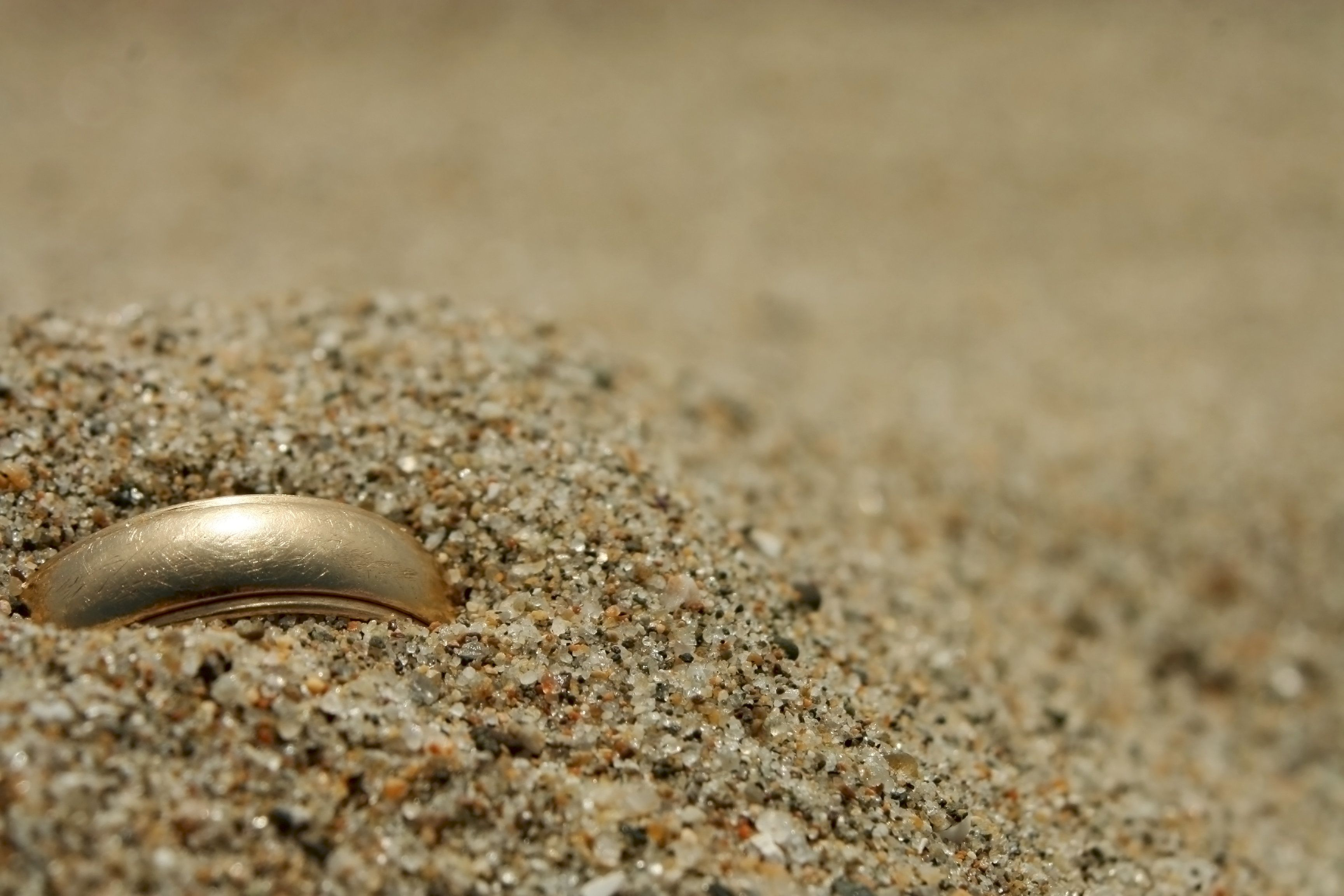 A gold ring lost in the
