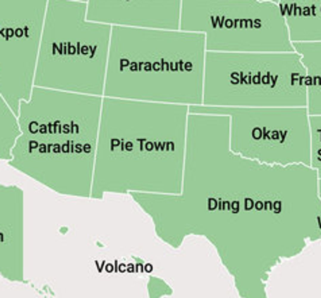 Ding Dong, Booger Hole And Worms Top List Of Oddest U.S