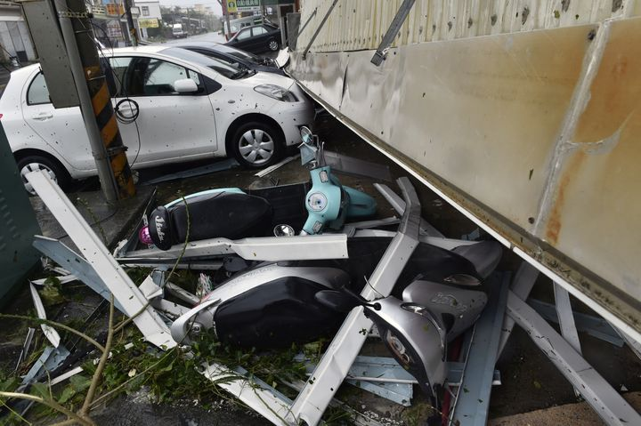"""""""This typhoon is the world's strongest so far this year,"""" weather bureau spokeswoman Hsieh Pei-yun said."""