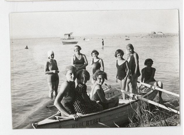 Haining (back row, second from left) on a trip to Lake Balaton with some of the