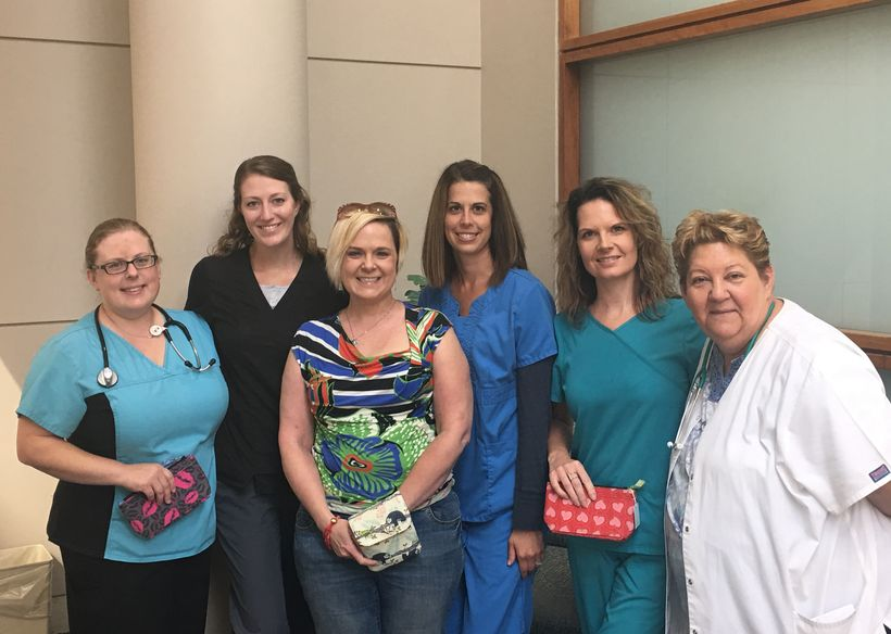 From left to right: Lehigh Valley Health Network Nurses Erin Light, Annie Cooper, me, Marisa Kauker, Jen Bergenstock and Debb