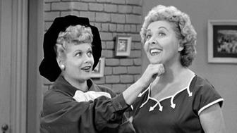 LOS ANGELES - JANUARY 12: Lucille Ball as Lucy Ricardo and Vivian Vance as Ethel Mertz in the I LOVE LUCY episode, 'Lucy Becomes a Sculptress.' Season 2, episode 15.  Original air date, January 12, 1953.  Image is a screen grab.  (Photo by CBS via Getty Images)