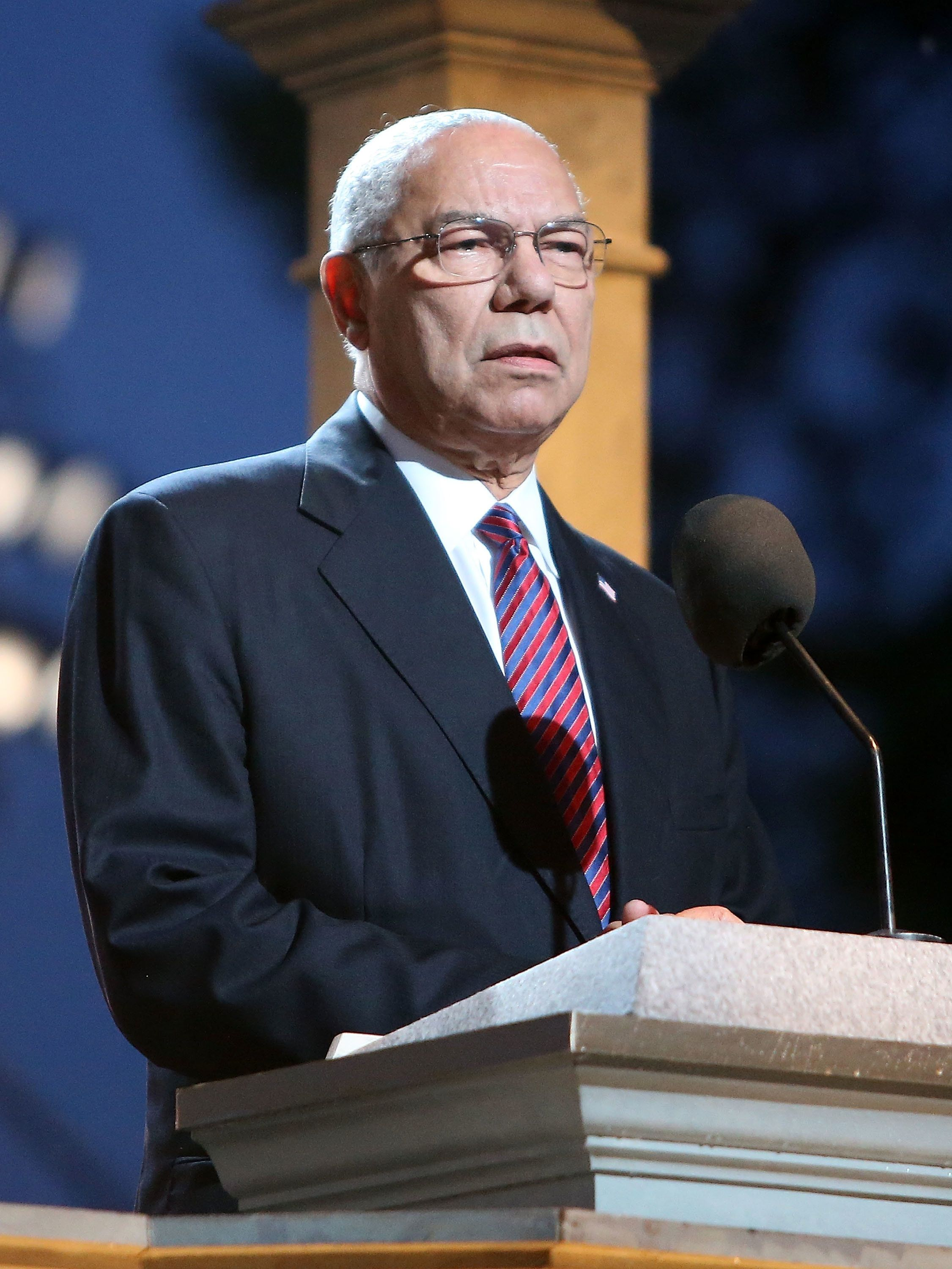 WASHINGTON, DC - MAY 29:  General Colin Powell (Ret.) onstage at the 27th National Memorial Day Concert on May 29, 2016 in Washington, DC.  (Photo by Paul Morigi/Getty Images for Capitol Concerts)