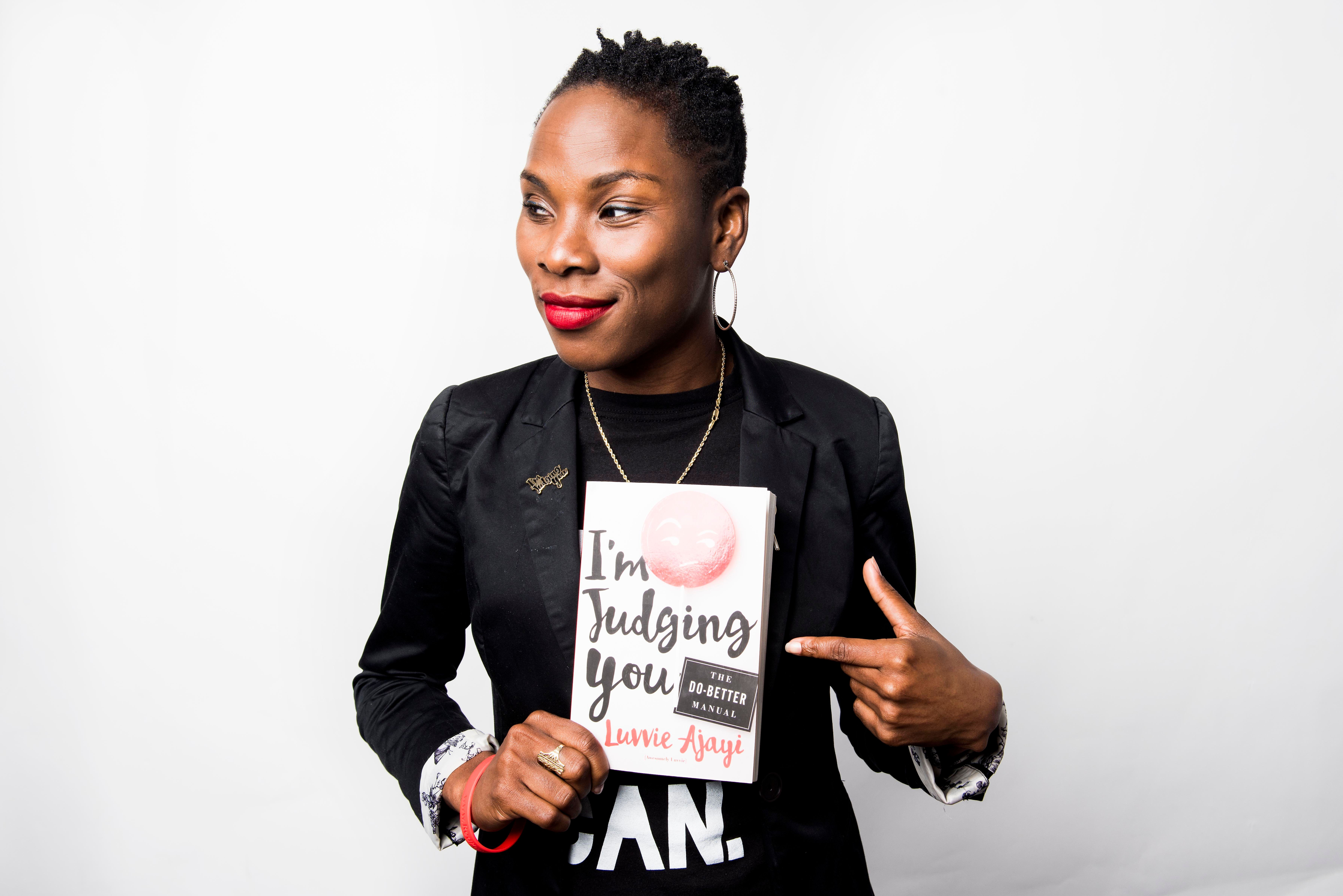 NEW YORK, NY - SEPTEMBER 14:  Luvvie Ajayi poses for a portrait in New York on Wednesday Sep. 14, 2016. (Photo by Damon Dahlen, Huffington Post) *** Local Caption ***