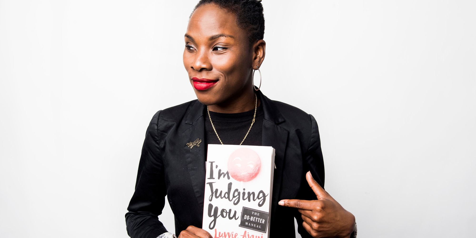 Image result for i'm judging you by luvvie ajayi.