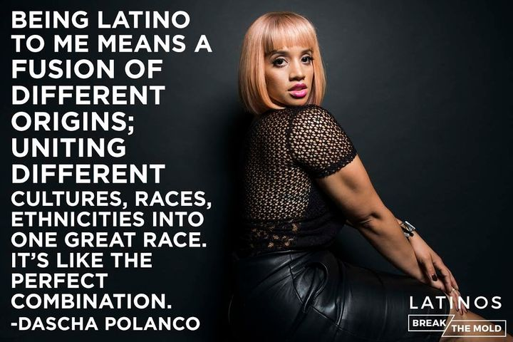 """Orange is the New Black"" star Dascha Polanco poses for <a href=""http://testkitchen.huffingtonpost.com/latinos-break-the-mold"