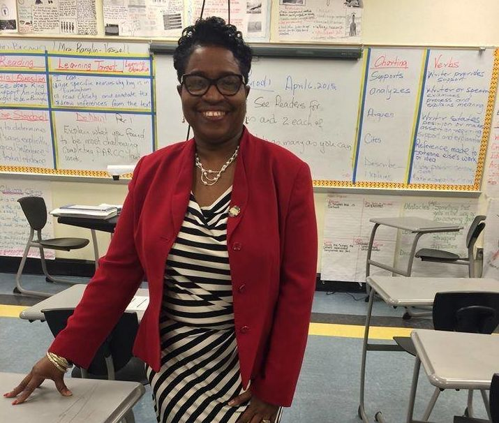 Marcia Ranglin-Vassell sought her fellow schoolteachers' support in her campaign to unseat the Rhode Island House majority le