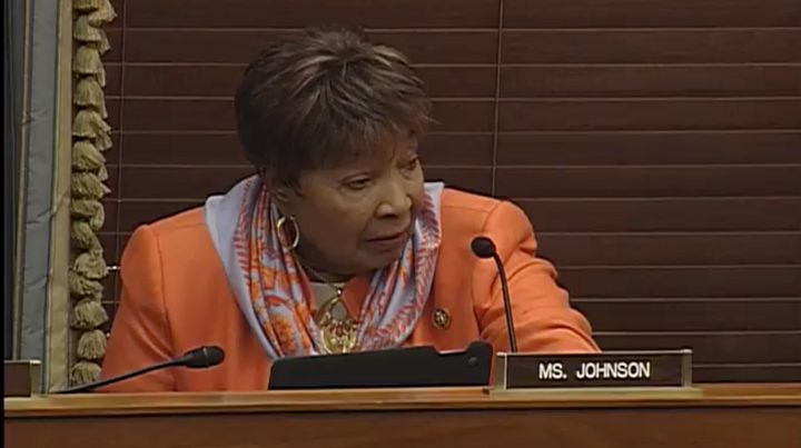 Rep. Eddie Bernice Johnson (D-Texas) speaks during Wednesday's hearing of the House Committee on Science, Space and