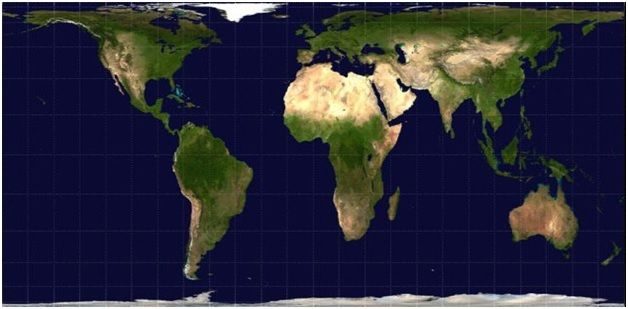 An accurate depiction of Africa on the world map