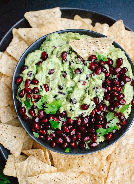 "<strong>Get the <a href=""http://cookieandkate.com/2014/festive-pomegranate-guacamole/"" target=""_blank"">Festive Pomegranate Gu"