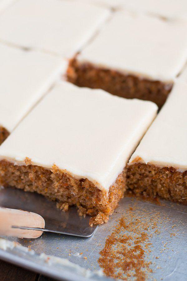"<strong>Get the <a href=""http://www.handletheheat.com/carrot-sheet-cake/"" target=""_blank"">Carrot Sheet Cake</a>recipe&n"