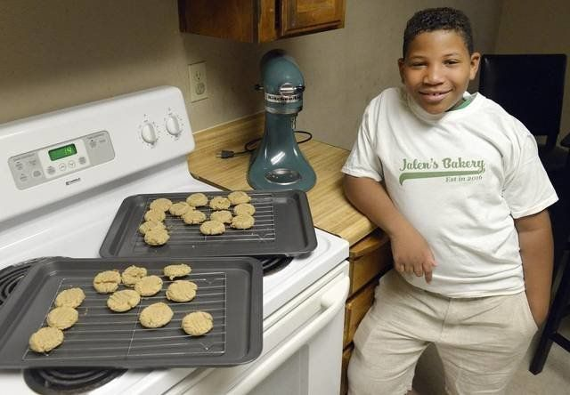 Bailey poses with a fresh batch of cookies.