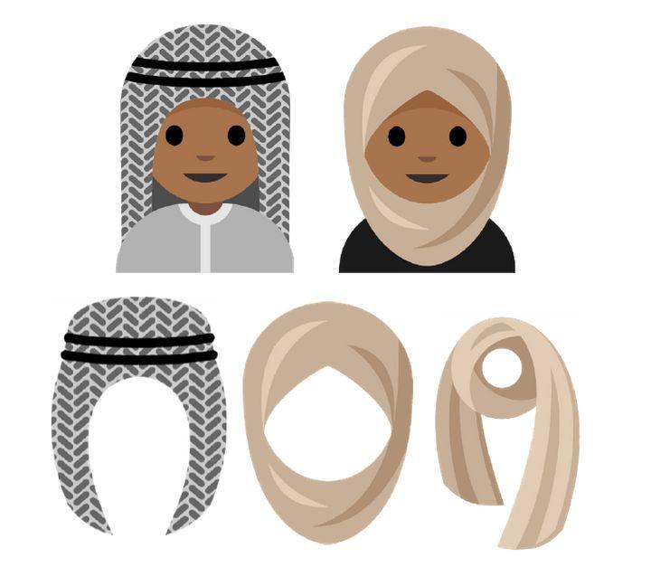 A depictionof the potential hijab emoji.