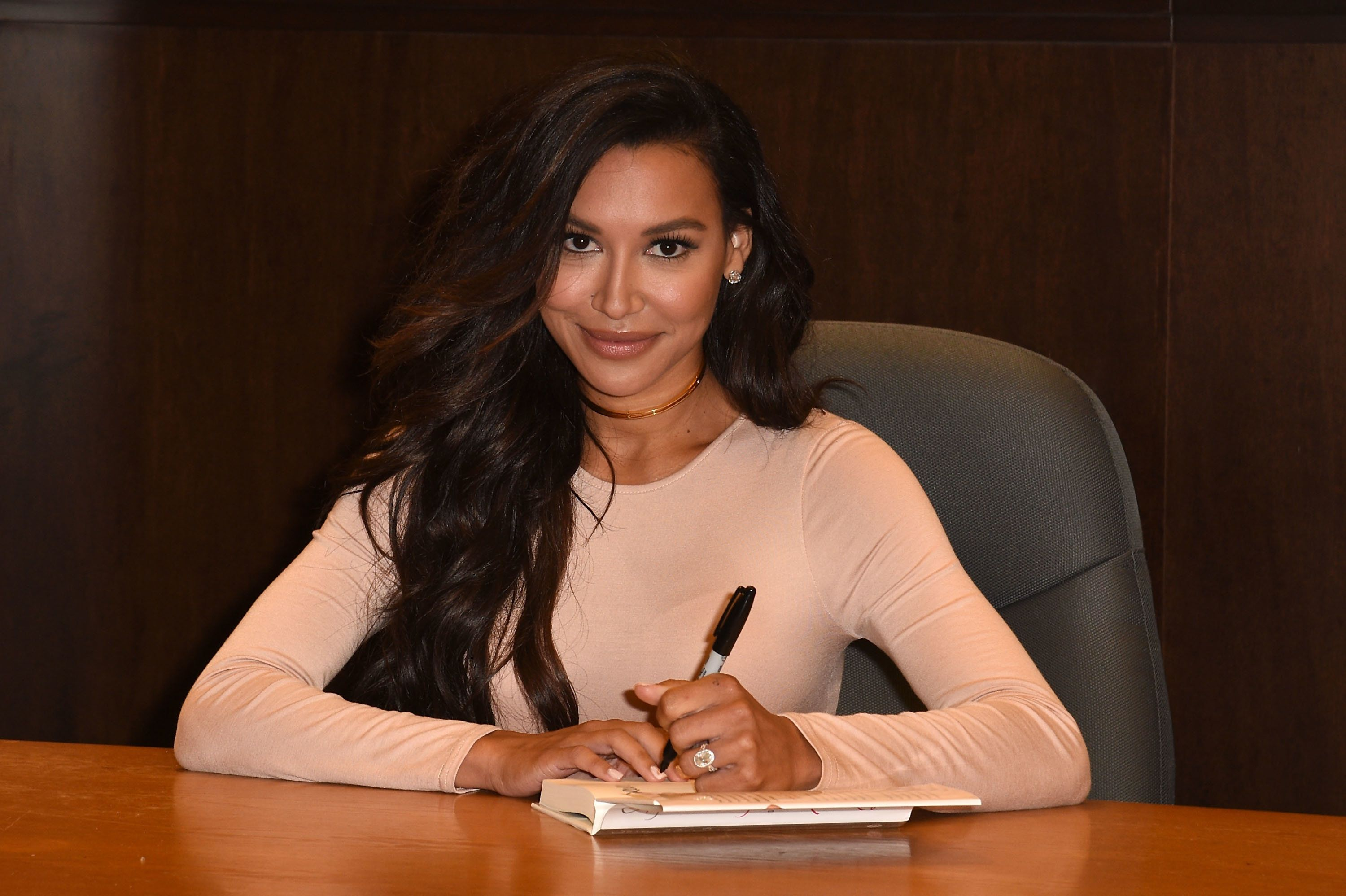 Naya Rivera attends her book signing for 'Sorry Not Sorry' in Los Angeles.