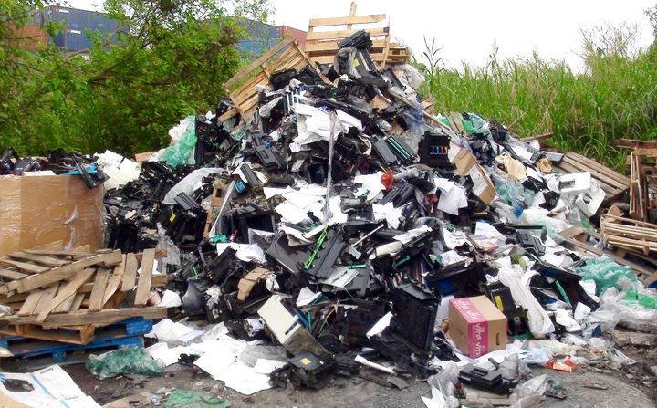 Basel Action Network trackedelectronic waste donated to recycling centersin the U.S., and found out that 40 perce