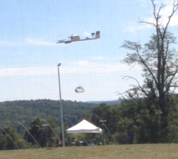 Drones delivered Chipotle burritos to waiting Virginia Tech students on Monday September 12 in the first of a series of tests performed as part of Project Wing a branch of Alphabet Inc the parent company of Google