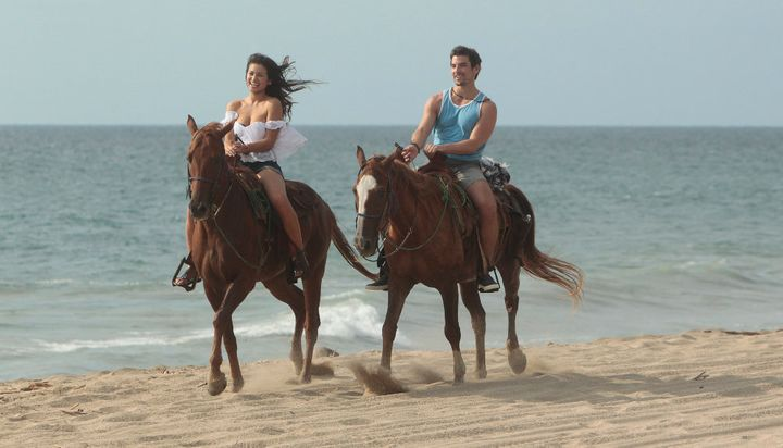 "Jared and Caila: Galloping off into ""Paradise."""