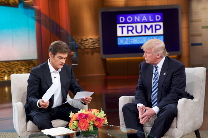 "Donald Trump revealed medical information on ""The Dr. Oz Show."""