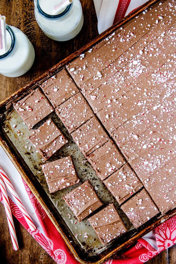 """<strong>Get the <a href=""""http://www.recipegirl.com/2015/12/01/peppermint-texas-sheet-cake/"""" target=""""_blank"""">Peppermint Texas"""