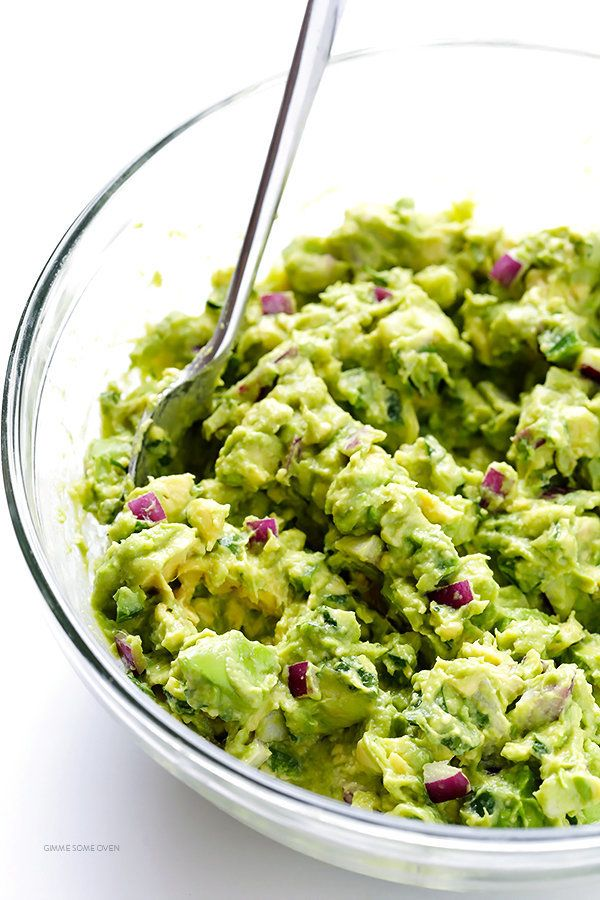 "<strong>Get the <a href=""http://www.gimmesomeoven.com/perfect-guacamole/"" target=""_blank"">Perfect Guacamole recipe</a> f"