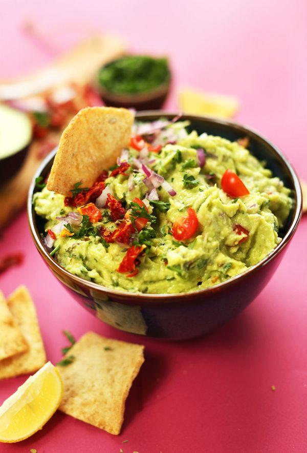 "<strong>Get the <a href=""http://minimalistbaker.com/greek-guacamole/"" target=""_blank"">Greek Guacamole recipe</a>from Mi"