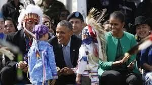 President Barack Obama and the First Lady visited the Standing Rock tribe in 2014.<br>&ldquo;I know that throughout history,