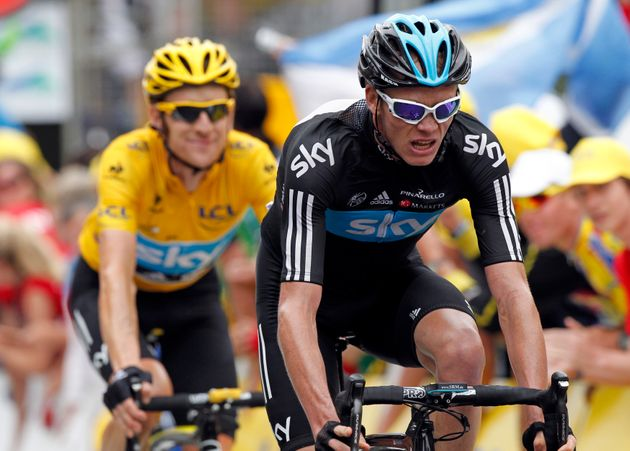 Bradley Wiggins (left) and Chris Froome are among those whose data has been