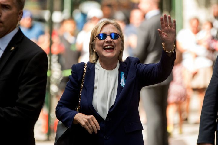 Sept. 11th, 2016: Hillary Clinton leaves her daughter apartment after fainting at 9/11 memorial