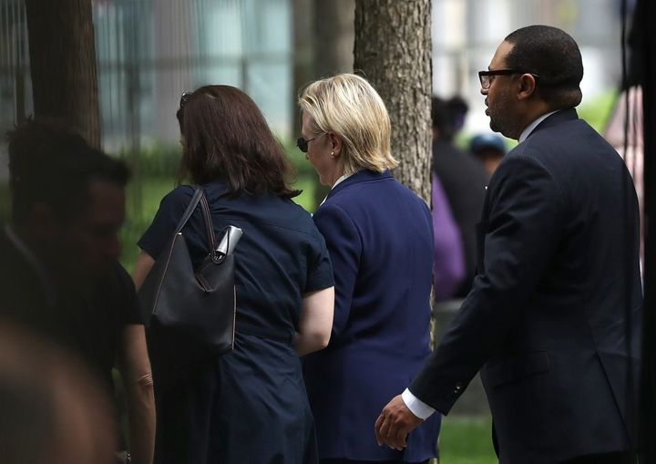 September 11th, 2016: Hillary Clinton leaves 9/11 memorial ceremony because of illness