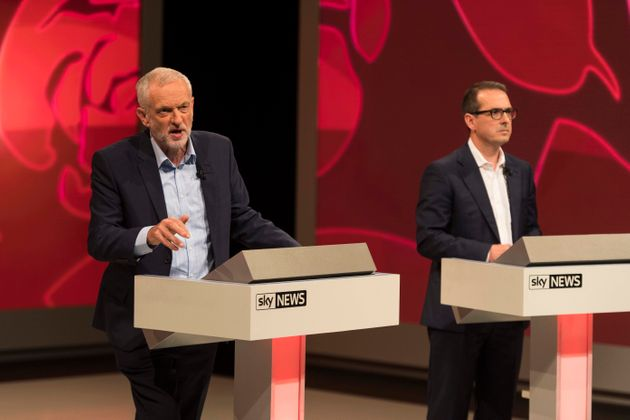 Jeremy Corbyn and Owen Smith clash during the final Labour leadership hustings on Sky