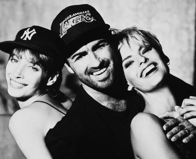 George Michael with Christy Turlington and Linda