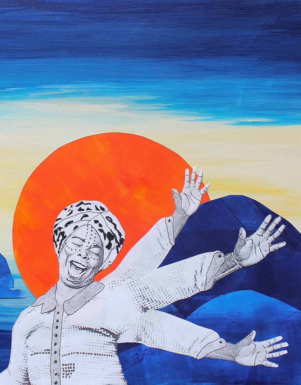 Chloe Cooley, whose defiance inspired anti-slavery movements in northern Canada. Naomi Moyer, mixed media.