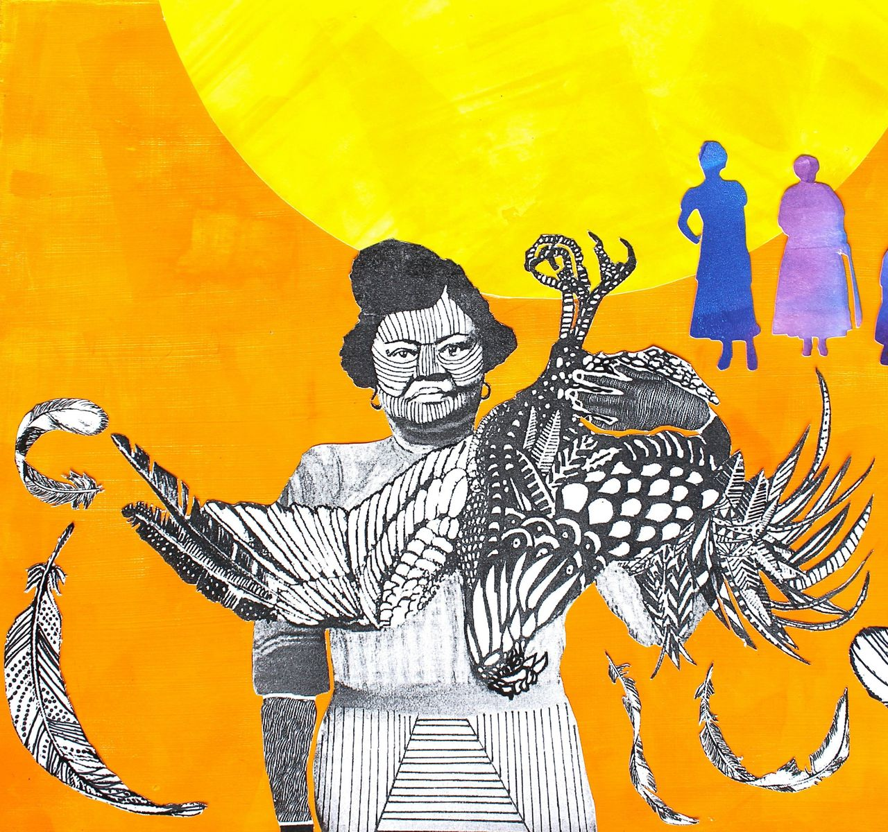 Rosa Pryor, the first black woman to own a business in Vancouver, Canada. Naomi Moyer, mixed media.
