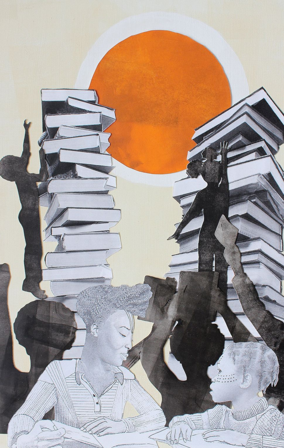 The Hour a Day Study Club, which united education and activism.Naomi Moyer, mixed media.