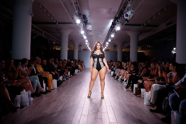 ashley graham s lingerie runway show is the picture of body