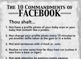 The 10 Commandments Of Facebook