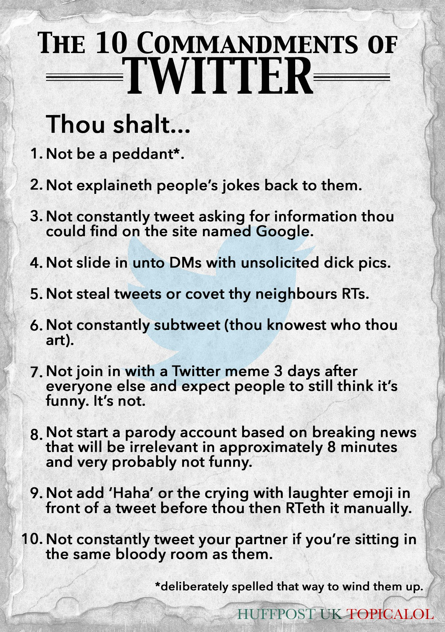 The 10 Commandments Of